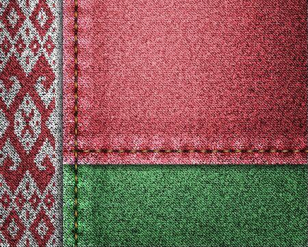 Denim flag of Belarus
