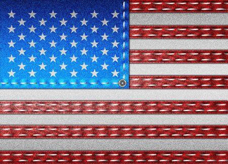 Denim flag of USA