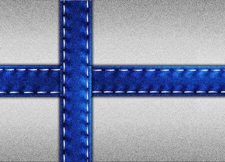 Denim flag of Finland 版權商用圖片