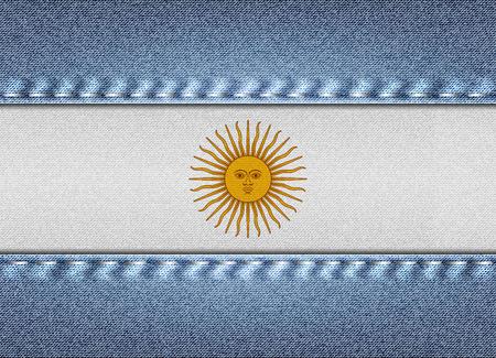 Denim flag of Argentina