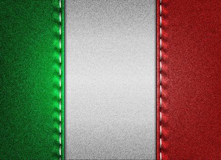 Denim flag of Italy