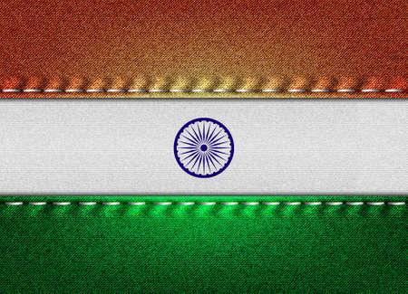 Denim flag of India