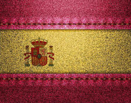 Denim flag of Spain