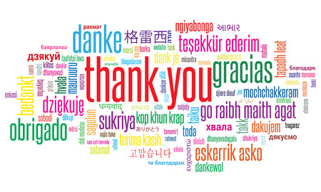 Thank You illustration word cloud in different languages 版權商用圖片 - 102953702