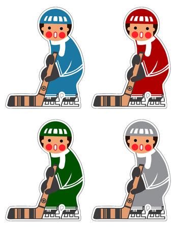 Ice Hockey toy sticker