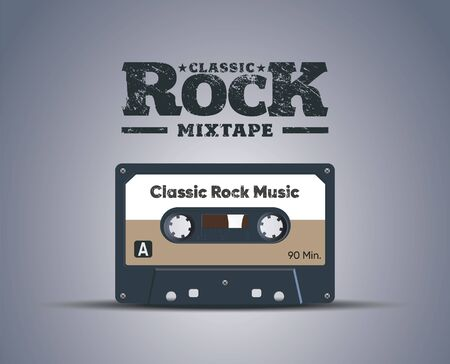 Classic cassette tape. Vector. A