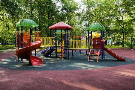 recreational area:  children playground in the park
