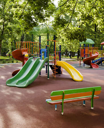 children playground in the park Stok Fotoğraf - 14324175