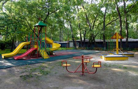children playground in the park photo