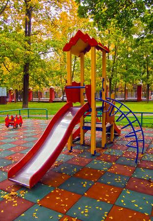 children playground in the house yard Stok Fotoğraf - 15328601