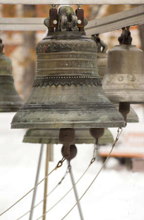Old russian bells in winter Stock Photo - 17329696