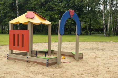 Children playground in the park in summer