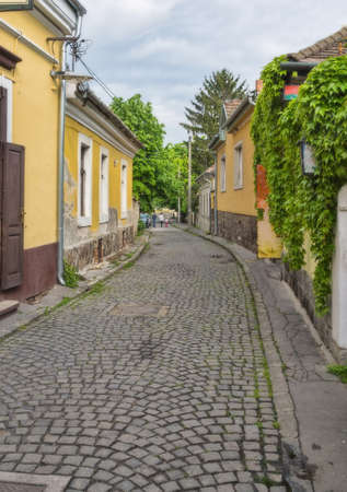 The old small street in the City of Sentendr of Hungary