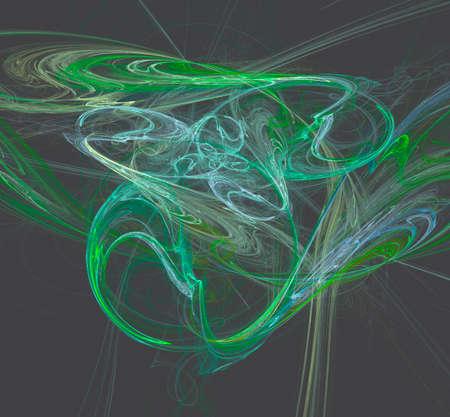 Light waves in green mood
