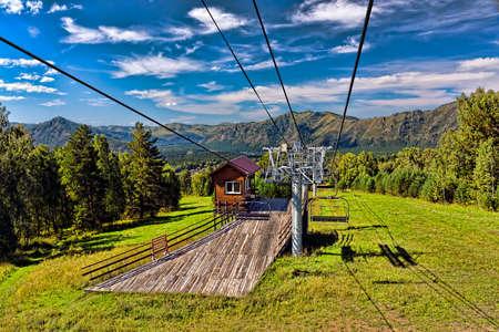 ski lift mountain in summer Stok Fotoğraf