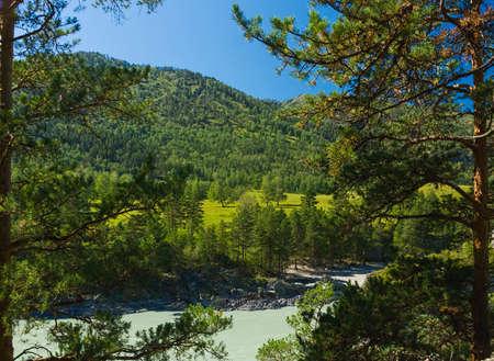 High mountain landscape in summer Stok Fotoğraf