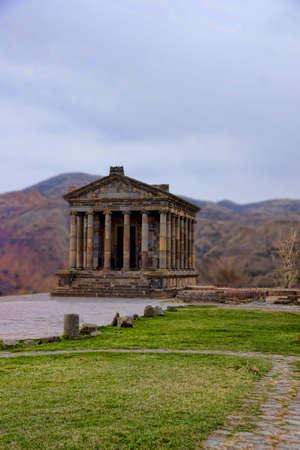the pagan temple of Garni in Armenia