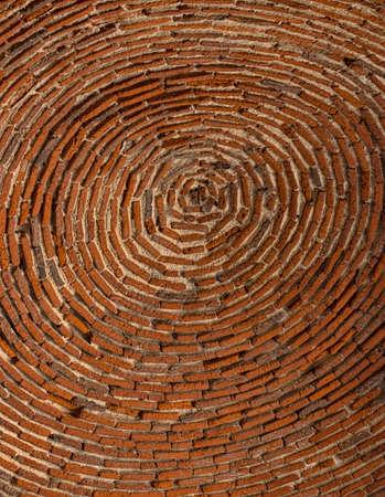 Ancient brick circular laying of a dome of church Stok Fotoğraf - 58817636