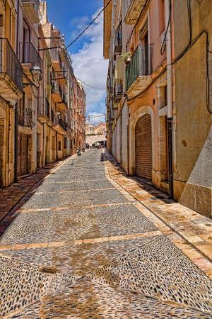 Spain Tarragona narrow street