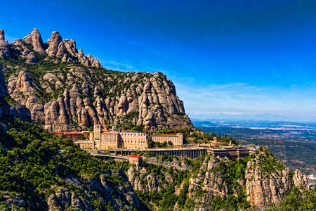 View of the monastery Montserrat in Spain near Barselona Stok Fotoğraf - 75901420