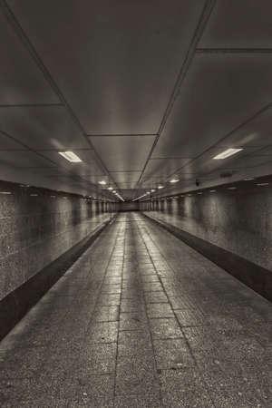 빈 횡단 보도 지하 공간 스톡 콘텐츠