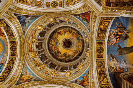 main dome of St. Isaac's Cathedral inside Stok Fotoğraf - 86718431
