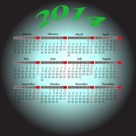 monthly Planner calendar Stock Vector - 19737478