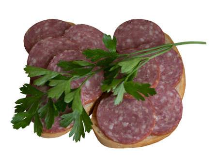 salame: Raw, Juicy, Pork, Salame, Product, Prepared, Feed, Petrushka, Ob