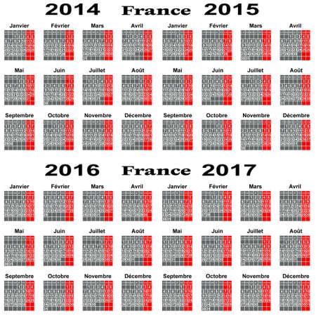 conducting:  Calendar for 2014,2015,2016,2017 year  Illustration