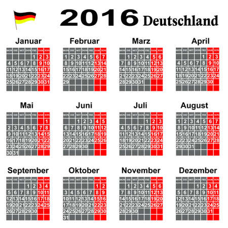 conducting:  Calendar for 2016 year
