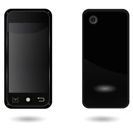 smart phone with Touch New functions. Ilustracja