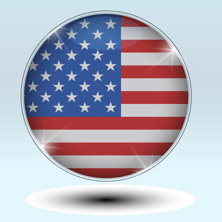reference point: Flag  USA  button