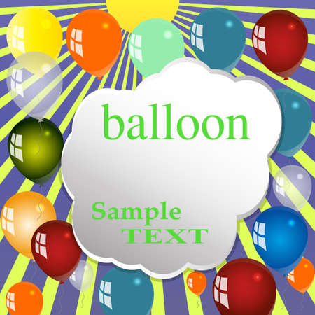 the animated film: Balloon, Celebration, Group, Event, Festival, Colour, Fun, Party, Gely, Birthday. Illustration