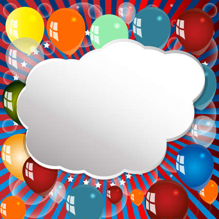 animated film: Balloon, Celebration, Group, Event, Festival, Colour, Fun, Party, Gely, Birthday. Illustration