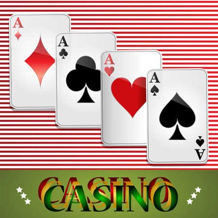 cartas poker: Poker, Casino, tarjetas, fondo, Juegos de azar, el Símbolo, Jugar, Buena suerte, Sign, Success. Vectores