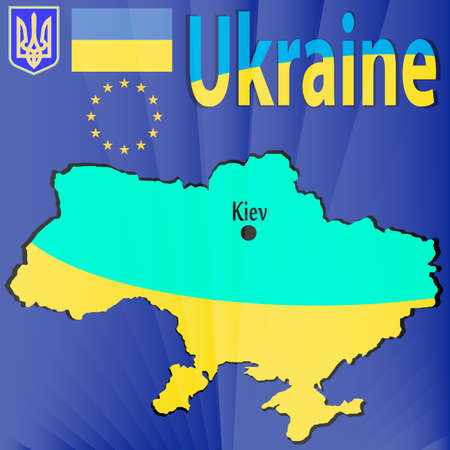 emblem of ukraine: Europe, Corporation Illustration