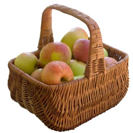 Apple,Fruit, Crude, Basket, Ripe, Sweet, Product, Fruit, Food is, A Lot Of. photo