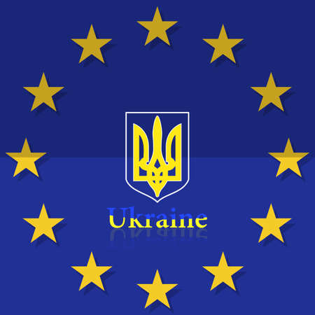 symbol tourism: Europe, Corporation, Logo, Symbol, Tourism, Ukraine,  Banner, Crest, Yellow, Gesture. Illustration