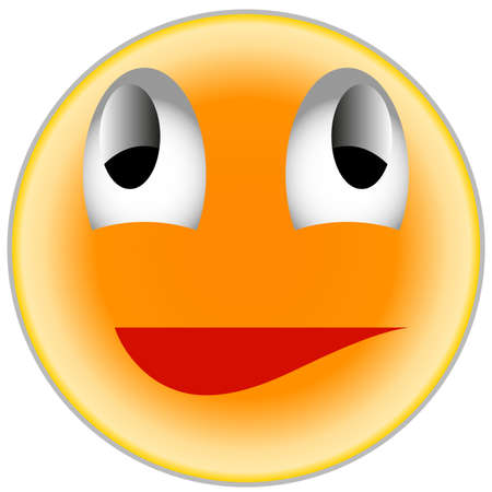 smilie: Winking, Colour, White, Vector, Cheerful, Expression, Head, Depression, For person, Friendly.