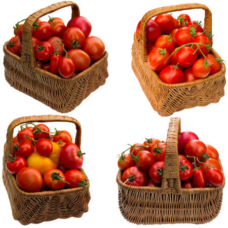 close up food: Tomato, ready, basket, green, red, vegetable,  sample, background,  close up, food.