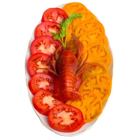 sensitivity: Close up, cancer, food, sensitivity, parsley, tomatoes, delightful, plate, claw, green.