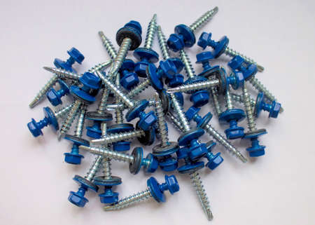 rubber gasket: Roofing screws.