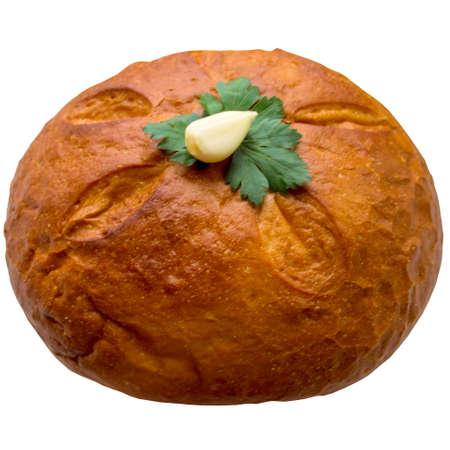 breadbasket: Bread isolated on white.