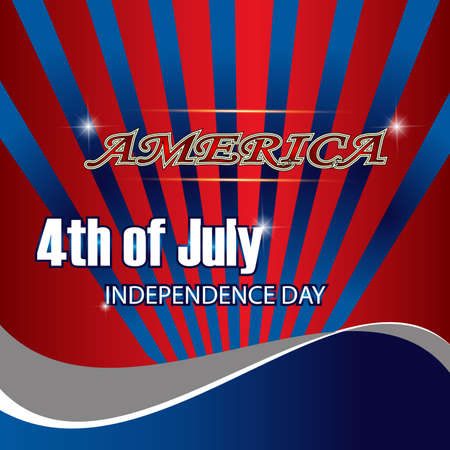 4th: USA 4th july background. Illustration