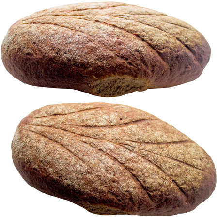 breadbasket: Fresh bread isolated on white. Stock Photo