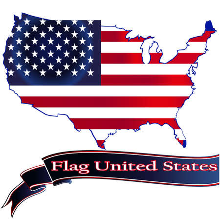 the united states: United States Flag Glossy Button.