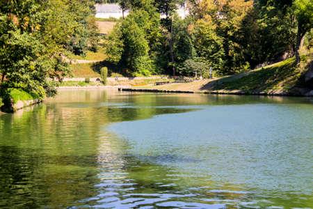 Reservoir in the sofiyevsky park.