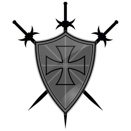 Templar, armor, battle, cross, knight, red, shield, ancient, antique, background.