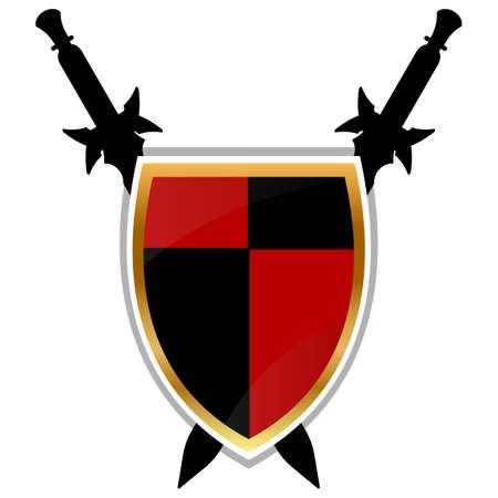 armory: Templar Shield vector icon.