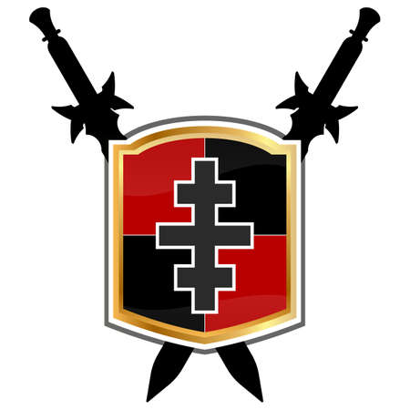 crux: Templar Shield vector icon.